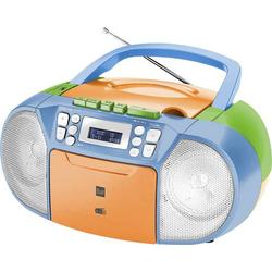 Dual DAB-P 210 Boombox Kassettenradio DAB+, UKW CD, Kassette, AUX Bunt