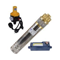 ® 4 Zoll 750-3DW Hochdruck Tauchpumpe für Zisternen und Wassertanks inkl. Pumpensteuerung für Haus