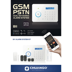 PSTN / GSM / RFID-Funk-Alarmanlage CG-B11 mit Display