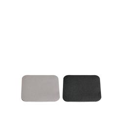LEONARDO Getränkeuntersetzer Set/4 Untersetzer 10 grau/schwarz CALMO, 4-teilig, 4-tlg., Untersetzer
