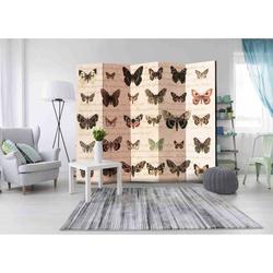 Paravent Trennwand mit Schmetterlingen 225 cm breit