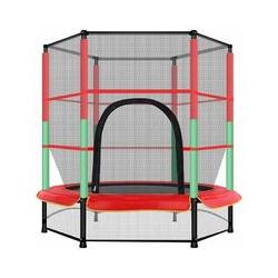 ®Mini Trampoline Fitness Bungee avec le filet de sécurité pour Enfants Ø 140 cm élastiques Bungee