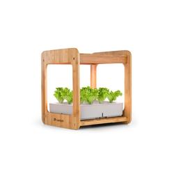 blumfeldt Kräutertopf Urban Bamboo Indoor Garden 12 Pflanzen 24W LED 7 Liter Bambus