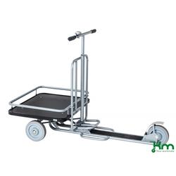 Kongamek Scooter Roller grau bis 200 kg Unplattbare Räder KM07350