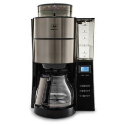 Melitta Siebträger-/Filterkaffeemaschine AromaFresh 1021-03 - Kaffeeautomat - metallicgrau
