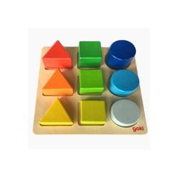 goki Steckpuzzle Puzzle Steckbrett Goki, 9 Puzzleteile