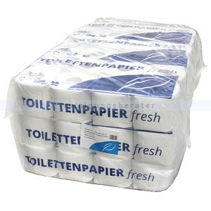 Toilettenpapier 3-lagig Hochweiß aus Zellstoff 72 Rollen 9 x 8 Rollen je Rolle 250 Blatt decorgeprägt
