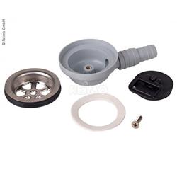 Ablaufgarnitur für Can Waschbecken gewinkelt Ø25mm und Ø19mm