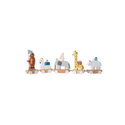 Bloomingville Kerzenhalter Kerzenhalter Kinder-Geburtstagszug Happy Birthday bunt 50 cm x 15 cm