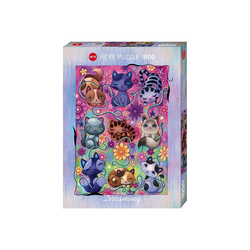 Huch! Puzzle Puzzle Kitty Cats, Dreaming, 1.000 Teile, Puzzleteile
