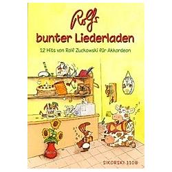 Rolfs bunter Liederladen  Akkordeon. Rolf Zuckowski  - Buch