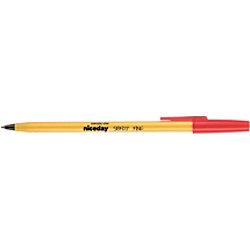 Niceday Kugelschreiber SBF0.7 0.4 mm Rot 20 Stück