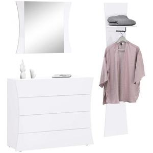 Tecnos Garderoben-Set Arco, (Set, 3-St) weiß