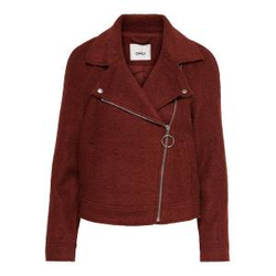 ONLY Biker Woll Jacke Damen Rot Female S