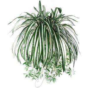 strimusimak Künstliche Hängepflanze, künstlich, für Zuhause, Hotel, Party, Garten, Grün, 1 Stück