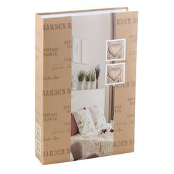 IDEAL TREND Album Feel Home Fotoalbum für 200 Fotos in 13x18 cm Einsteck Foto Album Memoalbum braun