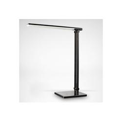 B.K.Licht LED Tischleuchte Kiran, LED Tischlampe schwarz dimmbar USB Leselampe Schreibtisch-Lampe inkl. 5W 500lm