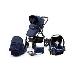 Kinderkraft Kombi-Kinderwagen Kombi Kinderwagen Moov, 3in1, schwarz blau