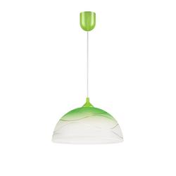 Licht-Erlebnisse Pendelleuchte ADANIA Hängeleuchte Esstisch Grün Weiß Glas Retro Pendelleuchte Lampe