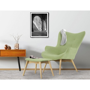 Sessel inklusive Hocker, grün, Sessel incl. Hocker, »Ducon«, FSC®-zertifiziert, COUCH♥