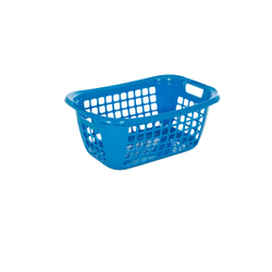 Wäschekorb 55 -Serie 2000-, Aus Kunststoff, Maße: 55 x 38 x 23 cm, blau