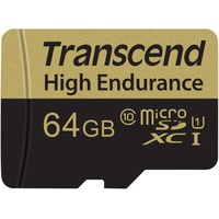 Transcend microSDXC High Endurance 64GB Class 10 + SD-Adapter