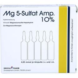 MG 5 Sulfat Amp. 10% Injektionslösung 5 St.