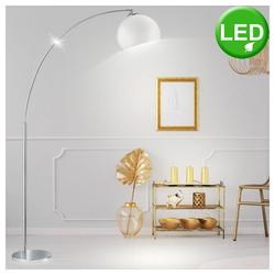 etc-shop Stehlampe, LED 4 Watt Bogenleuchte Deckenfluter Lese Leuchte Beleuchtung Steh Lampe