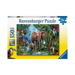 Ravensburger Puzzle Puzzle Dschungelelefanten, 150 Teile, Puzzleteile