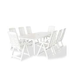 9-tlg. Garten-Essgruppe Kunststoff Weiß