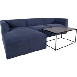 Alva Sofa links gewendet blau Wohnlandschaft Couch Wohnzimmer Garnitur Möbel