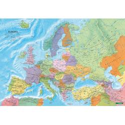 Europa politisch Poster 1:6 000 000 Metallbestäbt in Rolle