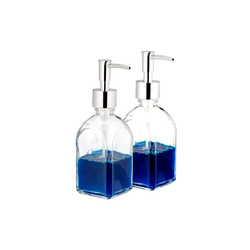relaxdays Seifenspender Seifenspender aus Glas 2er Set