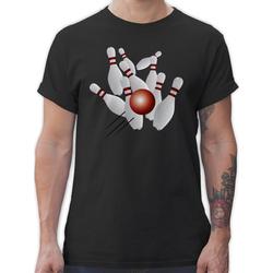 Shirtracer T-Shirt Kegeln alle 9 Kegeln Kugel - Bowling & Kegeln - Herren Premium T-Shirt XXL