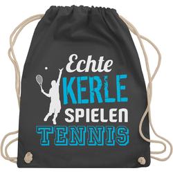 Shirtracer Turnbeutel Echte Kerle spielen Tennis - Tennis - Turnbeutel