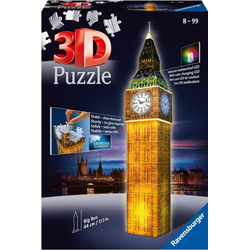 Ravensburger 3D-Puzzle Big Ben bei Nacht, 216 Puzzleteile, Made in Europe