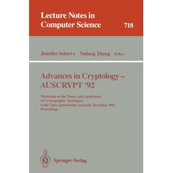 Advances in Cryptology - AUSCRYPT '92 als Buch von