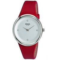 Boccia Titanium Boccia Damen Analog Quarz Uhr mit Leder Armband 3276-05