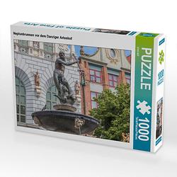 Neptunbrunnen vor dem Danziger Artushof Lege-Größe 64 x 48 cm Foto-Puzzle Bild von Fabian Junge Puzzle