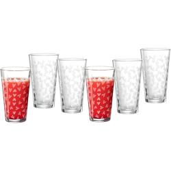 Ritzenhoff & Breker Longdrinkglas Happy, Hearts, (Set, 6 tlg., Longdrinkgläser, je 400 ml), ml, 6-teilig farblos Cocktailgläser Longdrinkgläser Gläser Glaswaren Haushaltswaren