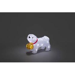 Konstsmide 6130-203 Acryl-Figur Bernhardiner LED Weiß