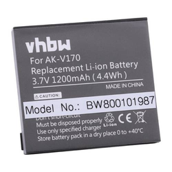 vhbw Li-Ion Akku 1200mAh (3.7V) für Seniorentelefon Emporia Seniorentelefon EmporiaLIFEplus, Emporia Life Plus wie AK-V170, AK-V 170.