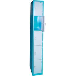 Schließfachsäule  5 Fächer mit abschließbaren Türen