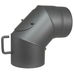 Abgasbogen 90° für Kaminofen - Ø 150 mm - mit Tür und Drosselklappe - 7747009972