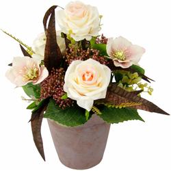 Kunstpflanze Rosen/Christrosen, I.GE.A., Höhe 34 cm