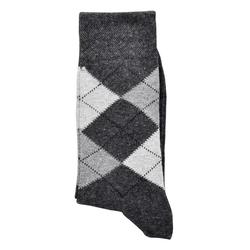 Socks 4 Fun Businesssocken Karo Socken (3-Paar) 39-42