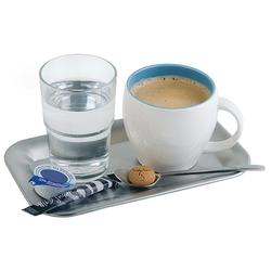Assheuer und Pott Serviertablett Tablett Kaffeehaus Edelstahl eckig