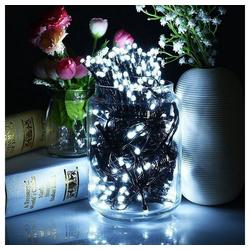interGo LED-Lichterkette LED Lichterketten Weihnachtsbeleuchtung Weiß 20m