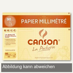 Canson Millimeterpapier transparent, DIN A4, 70-75 g/qm, 12 Blatt, C200017155