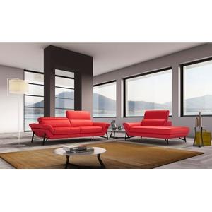 Egoitaliano Polstergarnitur Narcisa, Set aus 2,5-Sitzer und Ottomane, inkl. verstellbarer Kopfstützen rot